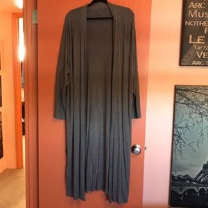 Glamorous grey open cardigan
